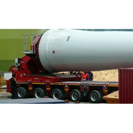 Canvas Print Wind Turbine Heavy Transport Technology Rotor Blades Stretched Canvas 10 x (Wind Turbine Rotor)