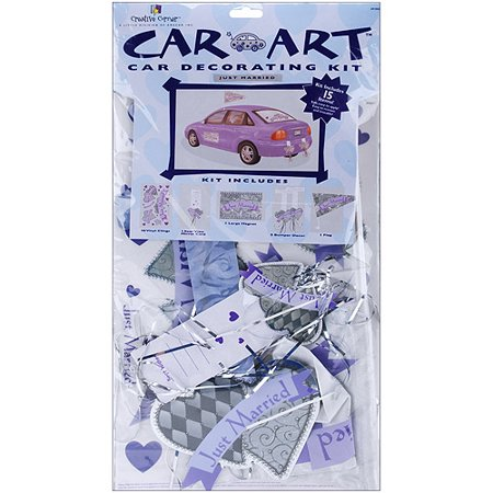 Wedding Day Car Decorating Kit, Just Married - Walmart.com