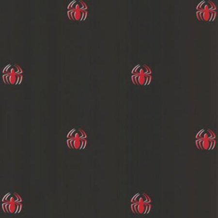 York Wallcoverings 12440808 Marvel Comics Spiderman Logo Black Wallpaper Accent](Dc Comics Batman Wallpaper)