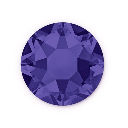 Swarovski Xilion Rose Hot Fix Crystals 2028 4.7mm Purple Velvet (Package of 10)