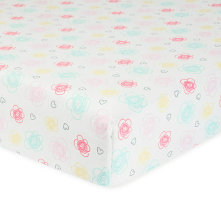 Organic Baby Sheets - Gerber Baby Girl Organic Cotton Fitted Crib Sheet