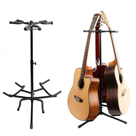 Hifashion Musician's Gear Triple Guitar Stand Black,Guitar Stand for acoustic guitar and