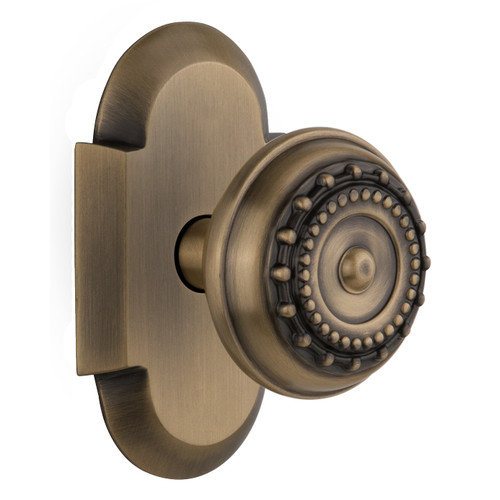 Nostalgic Warehouse Meadows Single Dummy Door Knob with Cottage Plate