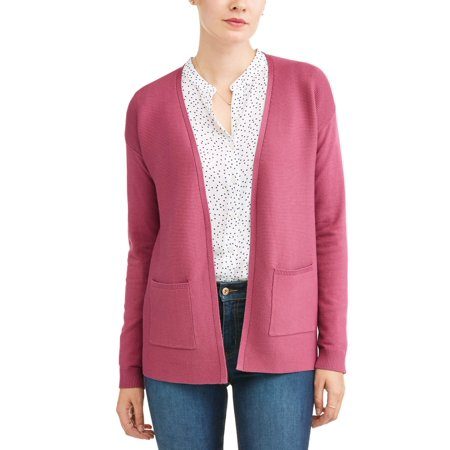 Women's Open Front Cardigan (Dot Cardigan Sweater)
