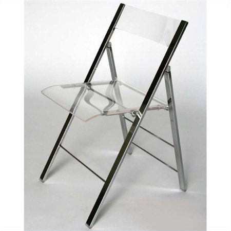 Atlin Designs Acrylic Folding Chair (Set of 2)
