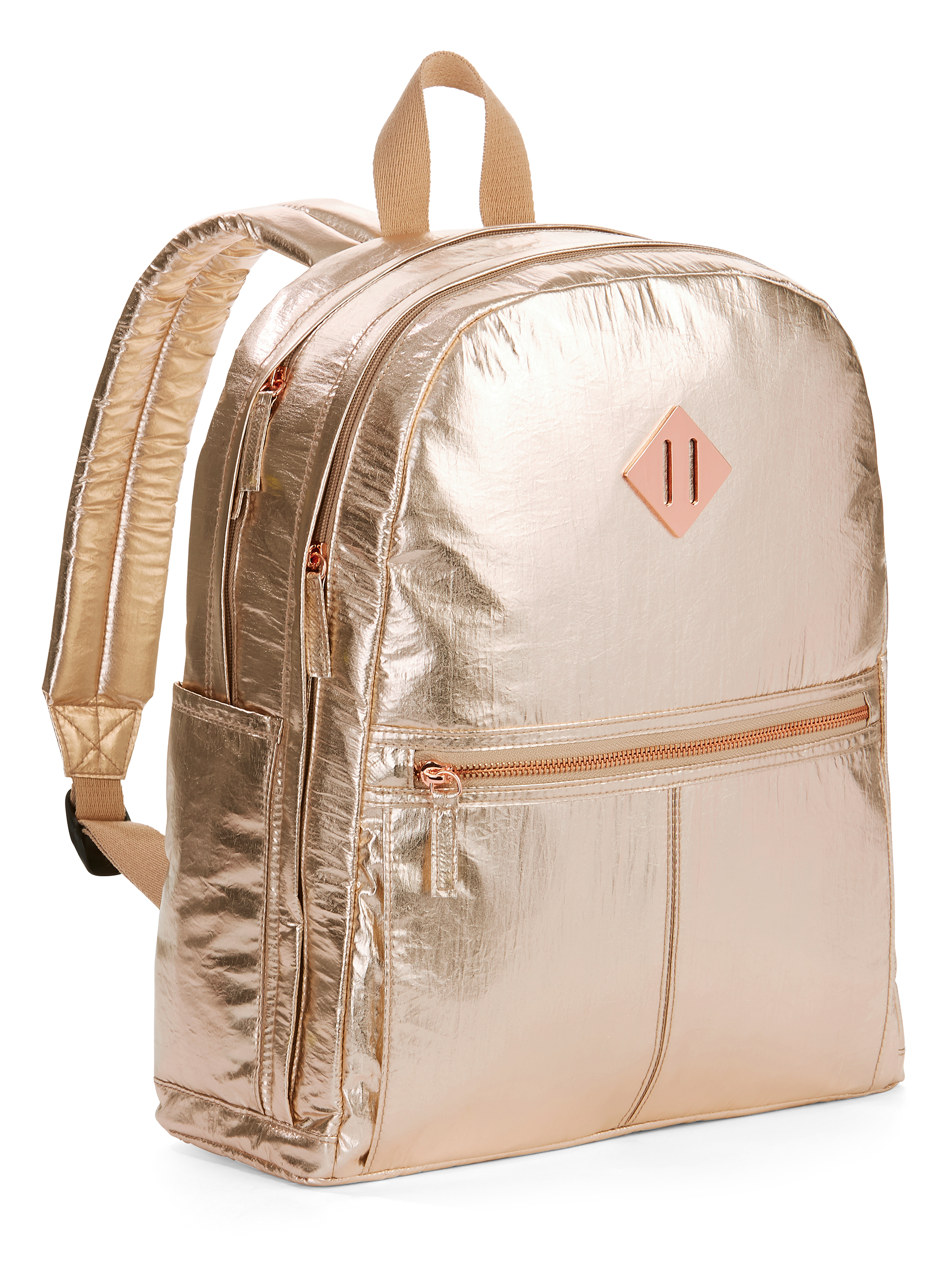 Rose Gold Crinkle Dome Backpack