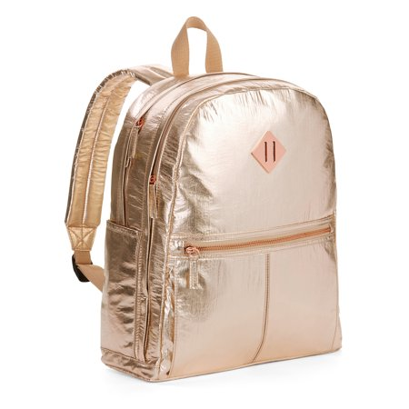 Large Silver Dome (No Boundaries Crinkle Dome Backpack)