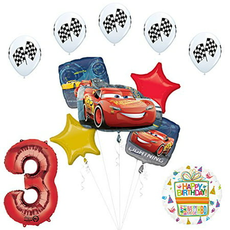 Cheap Disney Cars Party Supplies (Disney Cars 3 Lighting McQueen 3rd Birthday Party)