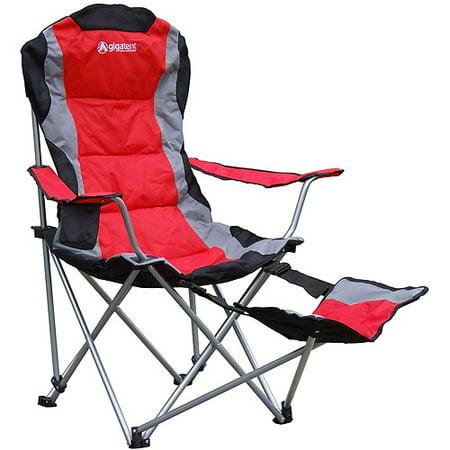 Outdoor Quad Camping Chair - Lightweight, Portable Folding Design -  Adjustable Footrest, Cup Holder - Outdoor Quad Camping Chair - Lightweight, Portable Folding Design