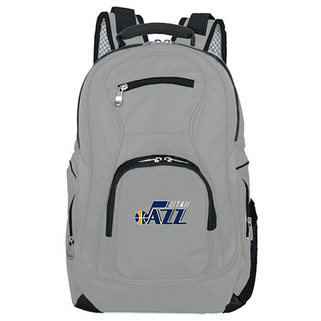 NBA Utah Jazz Gray Premium Laptop Backpack (Utah Business Week)
