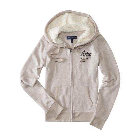 Aeropostale Hoodie (Aeropostale Womens Knit Fleece Fur Hoodie )