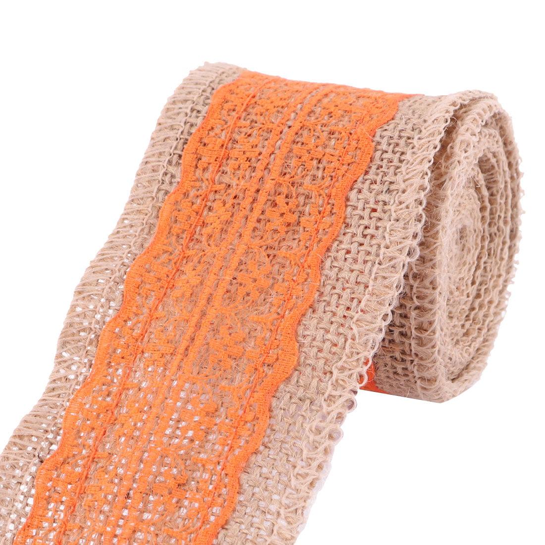 Household Linen Chair Gift Box Decor DIY Sewing Ribbon Roll Orange 2.3 Yards