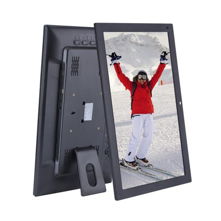 18.5 Inch Wide Screen 1366 * 768 High Resolution LED Digital Photo Frame Digital Album with Remote Control Motion Detection Sensor Support Audio Video Playing Clock Alarm Calendar Functions Support Mu - image 5 of 7