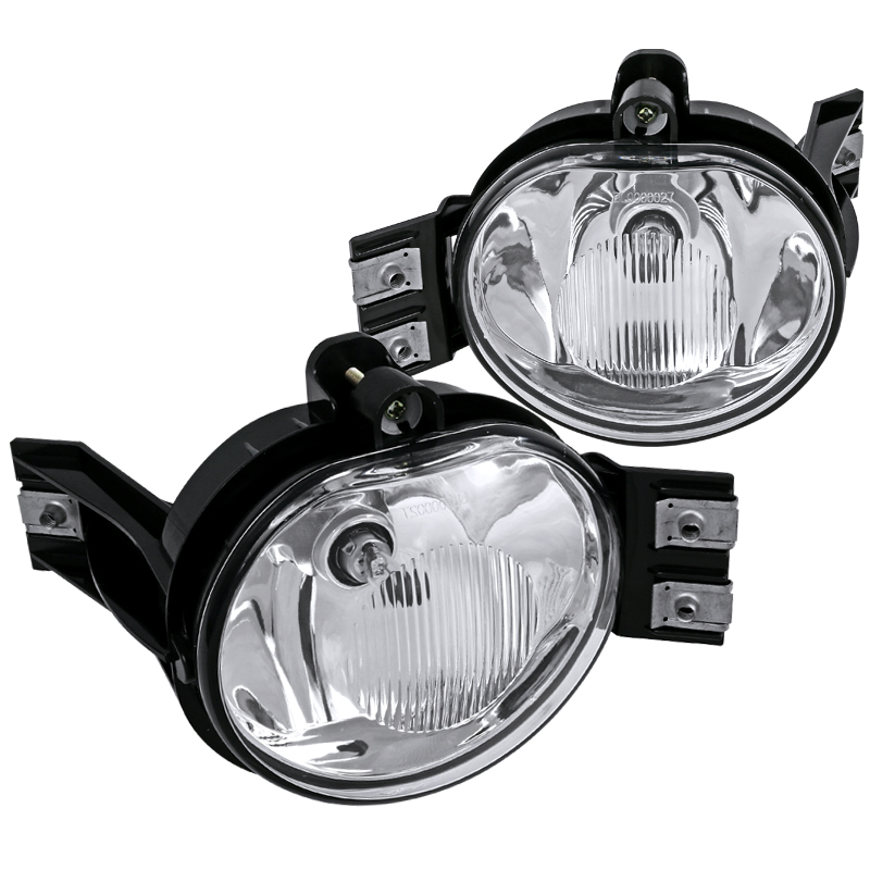 Spec-D Tuning Dodge 2002-2008 Ram 1500/2500/3500 2004-2006 Durango Clear Fog Lights Bumper Lamp + Bulbs 02 03 04 05 06 07 08 (Left + Right)