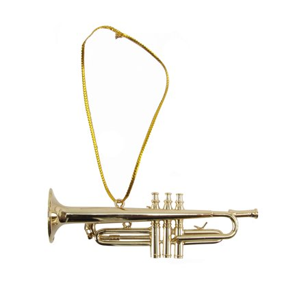 Miniature Trumpet Musical Instrument Realistic Ornament Jazz Band Musician Gift