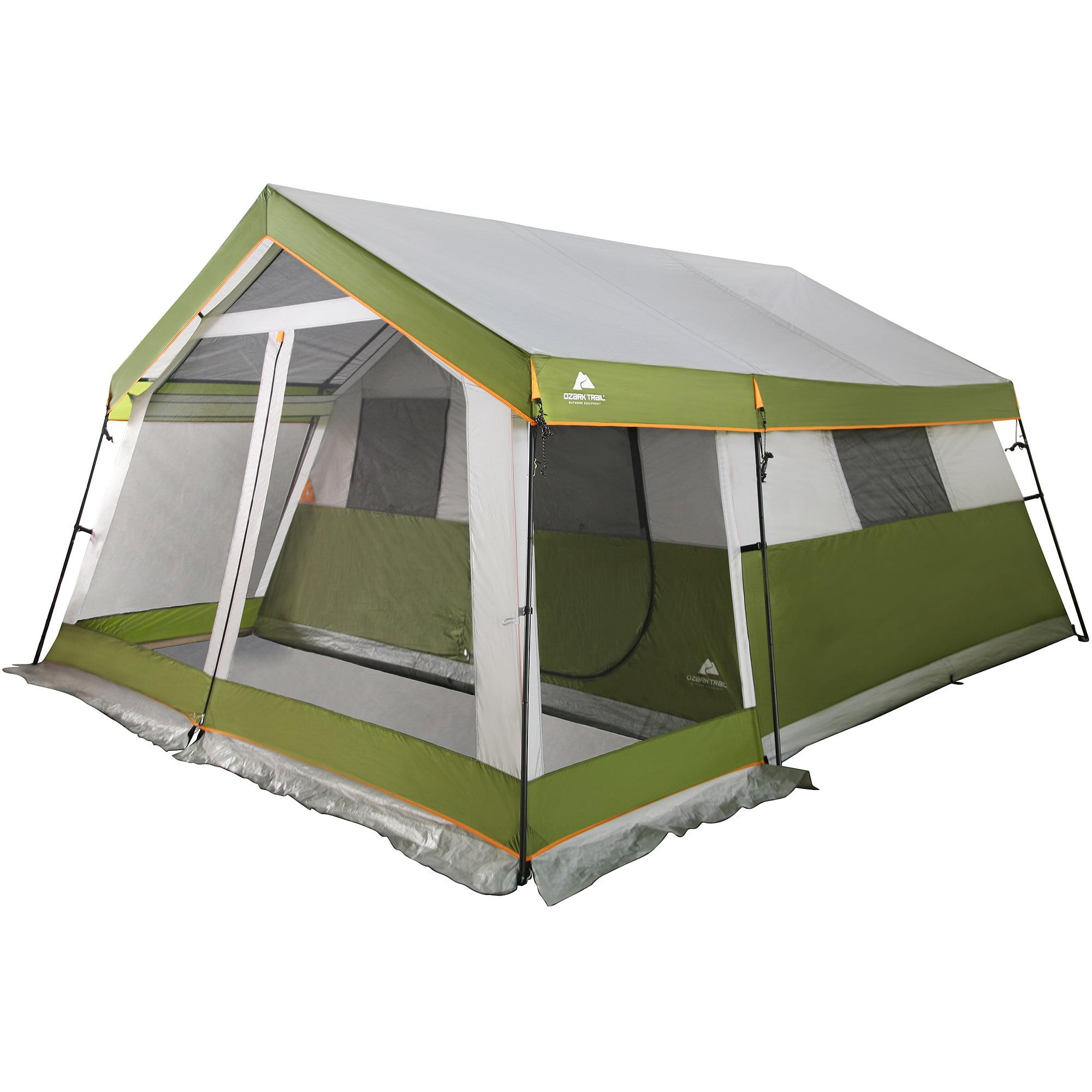 Ozark Trail 10-Person Family Cabin Tent with Screen Porch