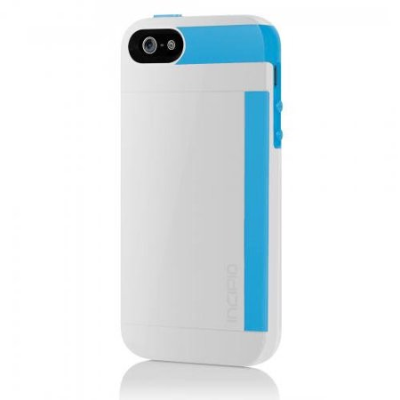 Incipio Stowaway Credit Card Case For Apple Iphone 5   5S  White Cyan
