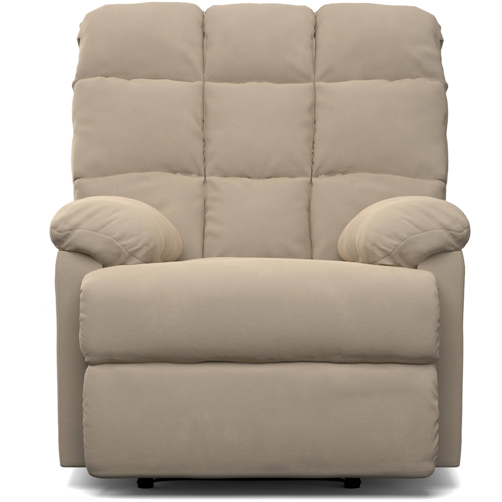 Mainstays Baja Wall Hugger Microfiber Biscuit Back Recliner Chair, Multiple  Colors Image 2 Of 6