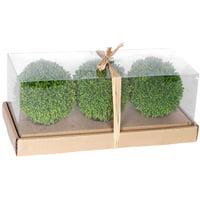 "4"" Artificial Foliage Green Decorative Balls, Set of 3"