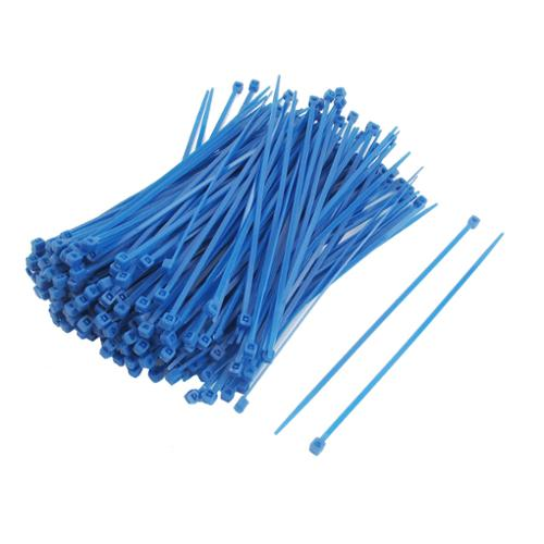 200 Pcs Self Locking Electric Wire Cable Zip Ties Blue 2.5mm x 150mm