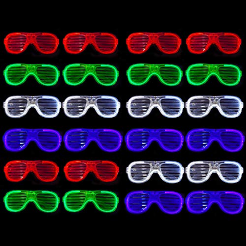 Funny Light Up Shutter Glasses LED Shades Flashing Rave Wedding Party Supplies