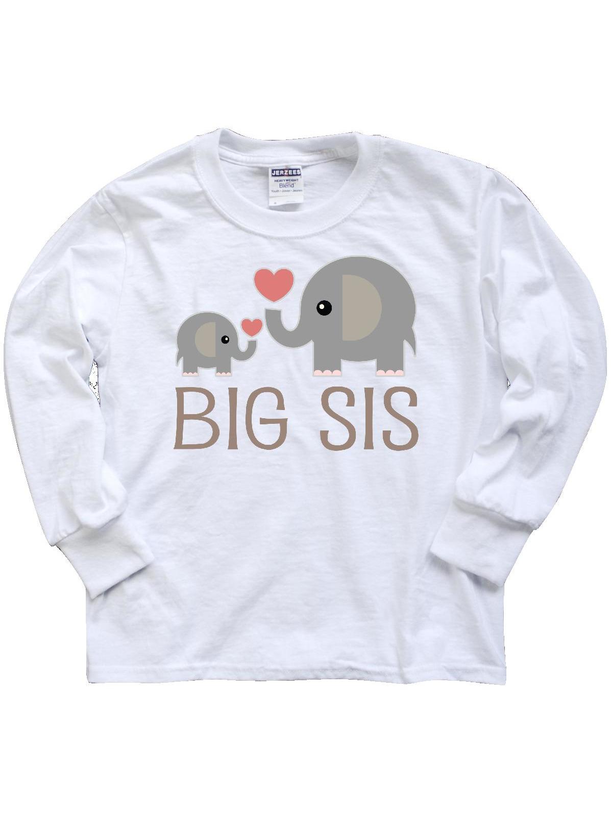 Big Sis Elephant Youth Long Sleeve T-Shirt