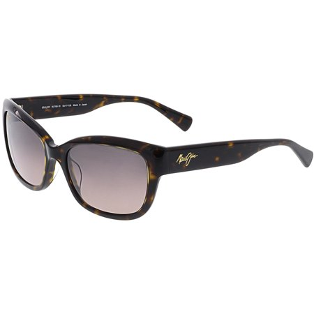 Maui Jim Women's Polarized Plumeria RS768-10 Matte Brown Butterfly (Maui Jim Pilot Polarized Sunglasses)