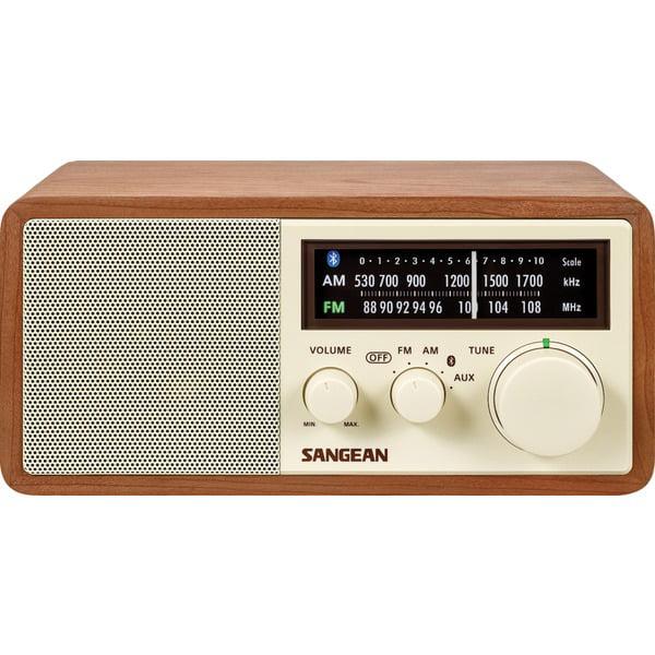 Sangean WR-16 AM FM Bluetooth(R) Wooden Cabinet Radio by Sangean