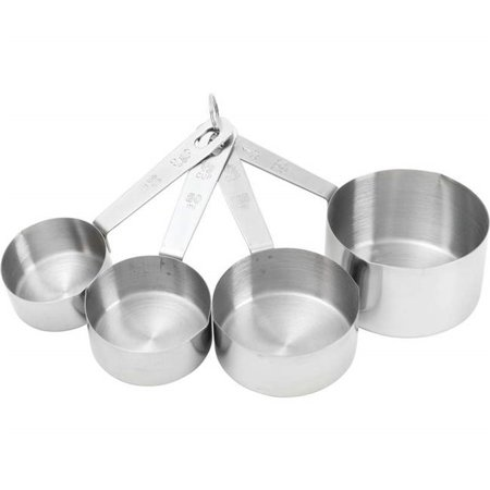 Stainless Steel Measuring Cup Set With Etched Markings, 4 Piece