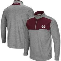 "Mississippi State Bulldogs NCAA ""Curl Route"" Men's 1/4 Zip Fleece Jacket"