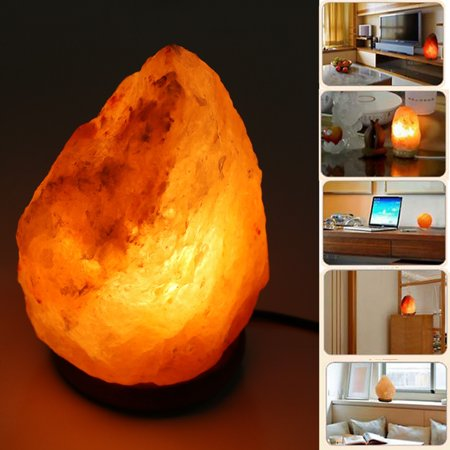 Homdox Natural Salt Lamp Rock Light Air Purifier Home