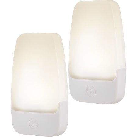 GE Automatic LED Plug-In Night Light, 2-Pack, Contempo Design, White