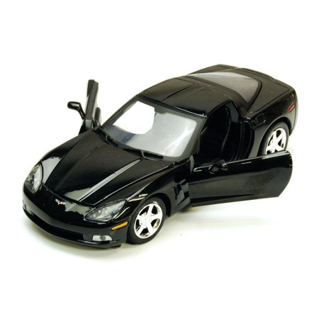 Chevy Corvette C6, Black - Showcasts 73270 - 1/24 scale Diecast Model Toy Car (Brand New, but NOT IN