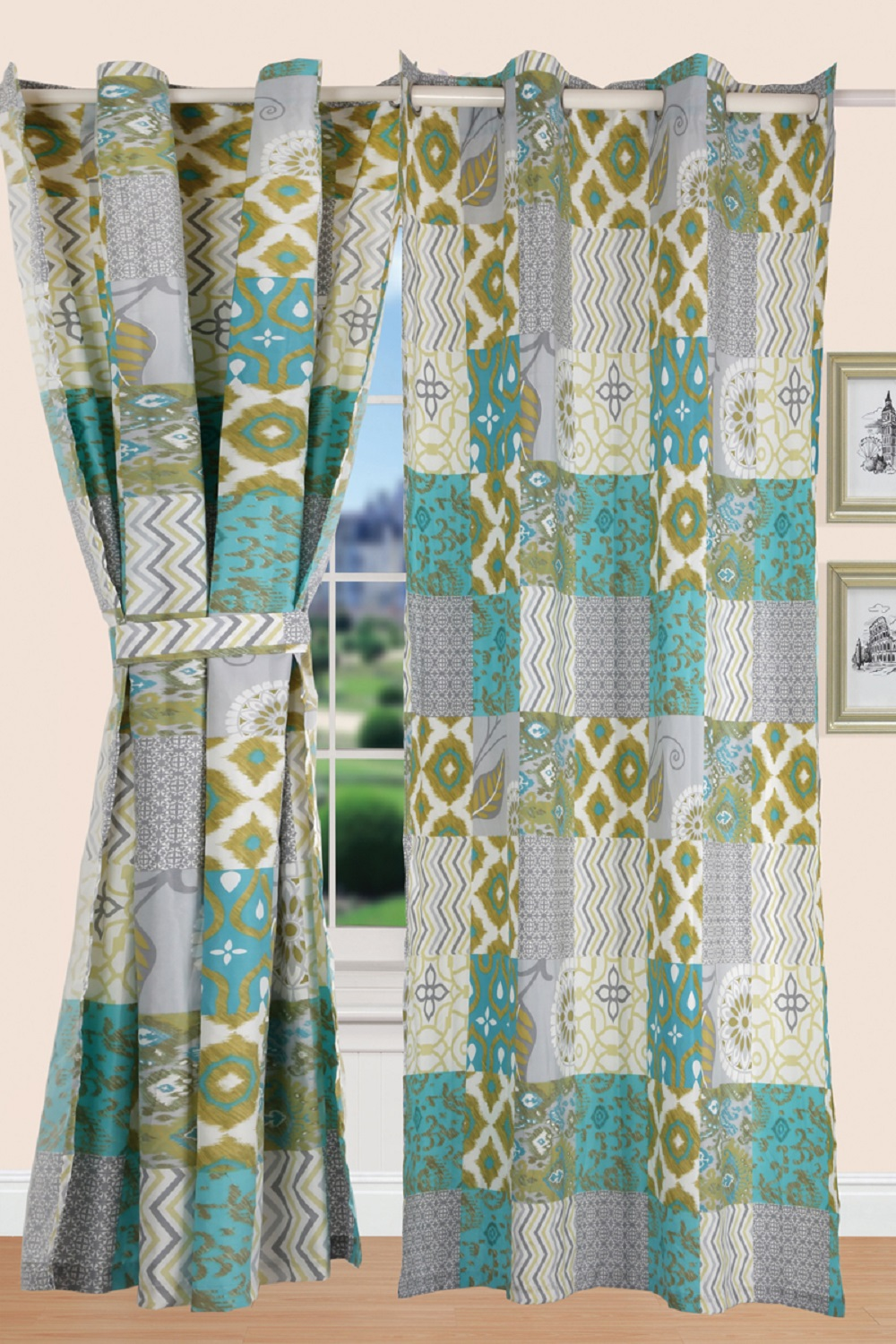 All American Collection New 3pc Printed Modern Geometric Bedspread Coverlet by American Linen & Rugs