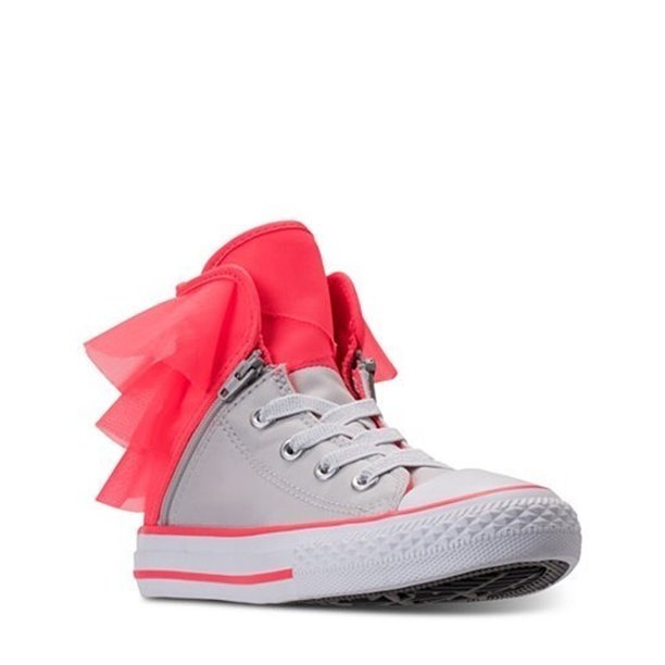 Converse Block Party High Top Girls/Child shoe size 4 Casual 658060F Pure Silver/Hot