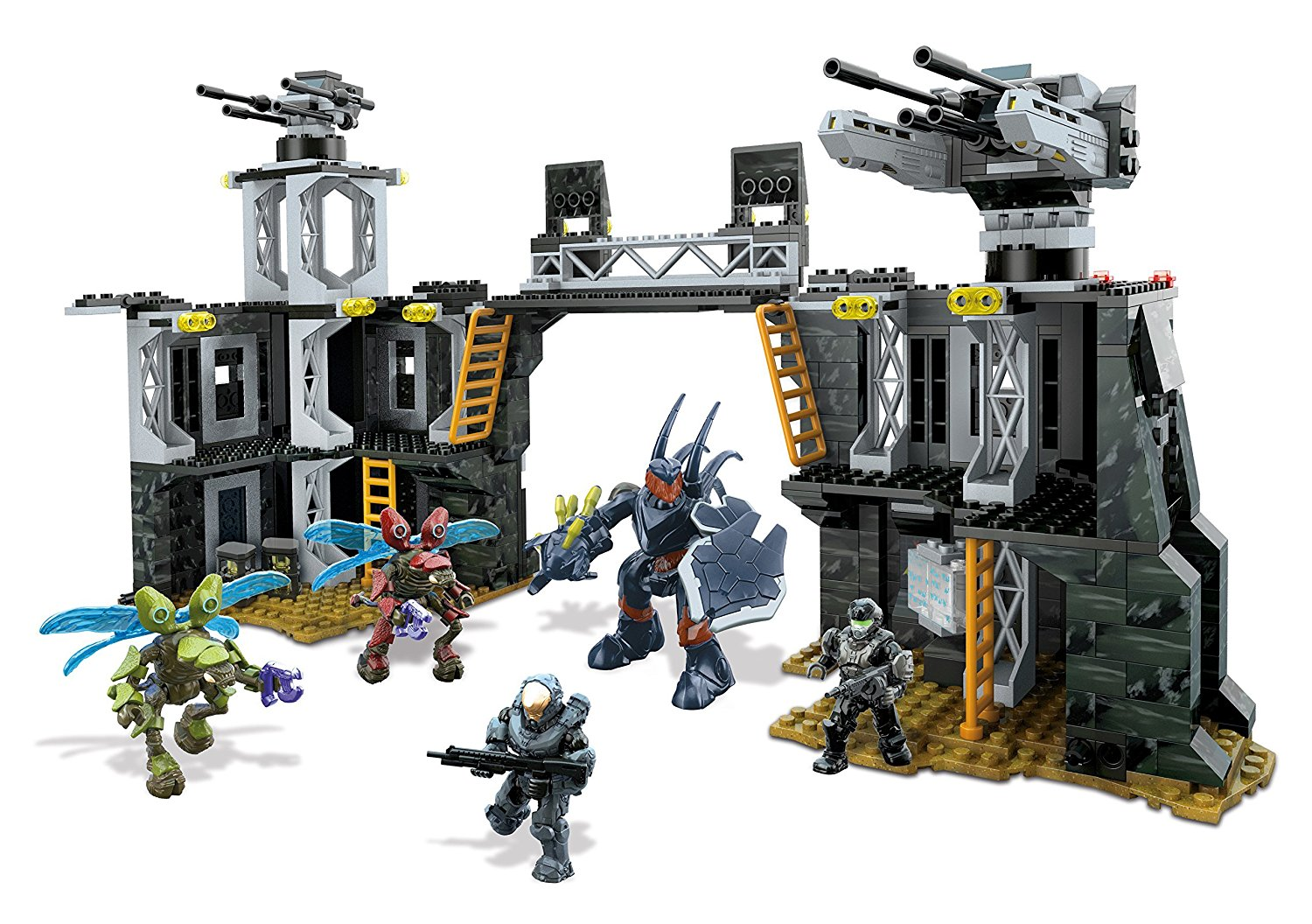Halo UNSC Firebase, Buildable iconic UNSC Firebase location with bridge, fully rotating... by