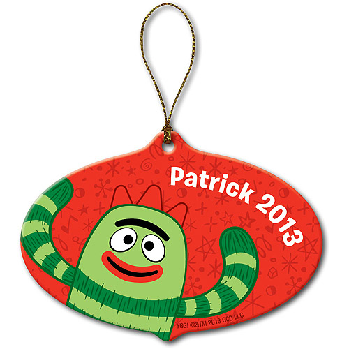 Personalized Yo Gabba Gabba! Brobee Red Christmas Ornament