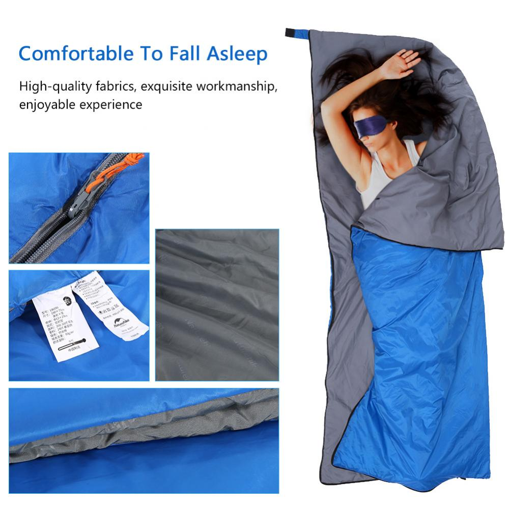 Yosoo Portable Mini Sleeping Bag Outdoor Camping Hiking Waterproof Sleeping Bag(Light Blue), Envelope Sleeping Bag, Single Sleeping Bag