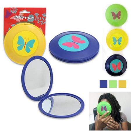 1 Compact Mirror Magnifying Folding Double Sided Powder Makeup Beauty Accessory