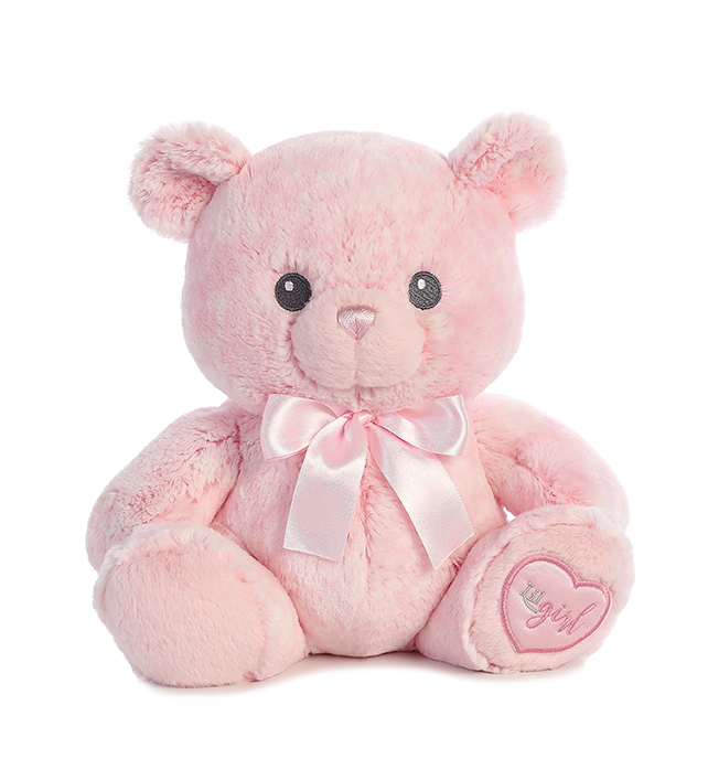 "10"" Aurora Soft Plush Stuffed Animal - Lil Girl Pink Bear"