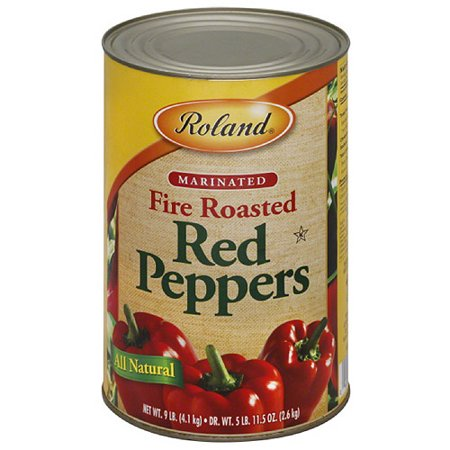 Roland Marinated Fire Roasted Red Peppers, 9 lbs, (Pack of 6 ...