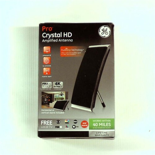 Refurbished GE Pro Crystal HD Amplified Antenna works within 40 miles