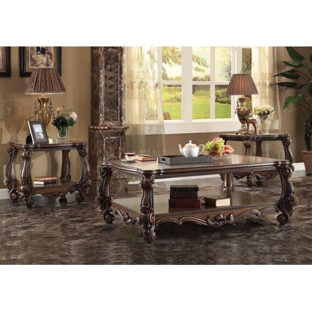 Simple Relax 1perfectchoice Versailles 3pcs Cherry Oak Coffee Table Set