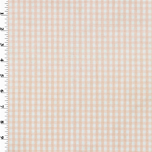 "3/8"""" Pink Gingham Print Home Decorating Fabric, Fabric By the Yard"