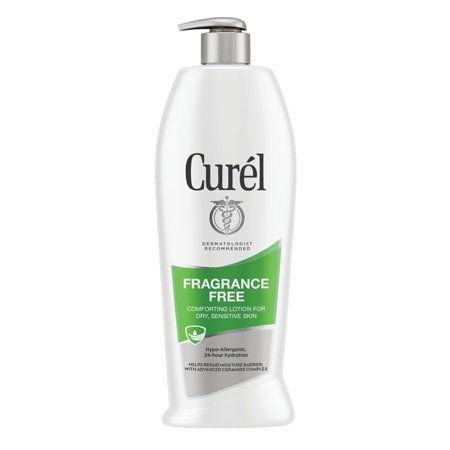 Curel Fragrance Free Comforting Body Lotion for Dry, Sensitive Skin, 13