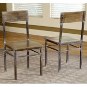Modus Farmhouse Dining Side Chairs in Antique Walnut (Set of 2)