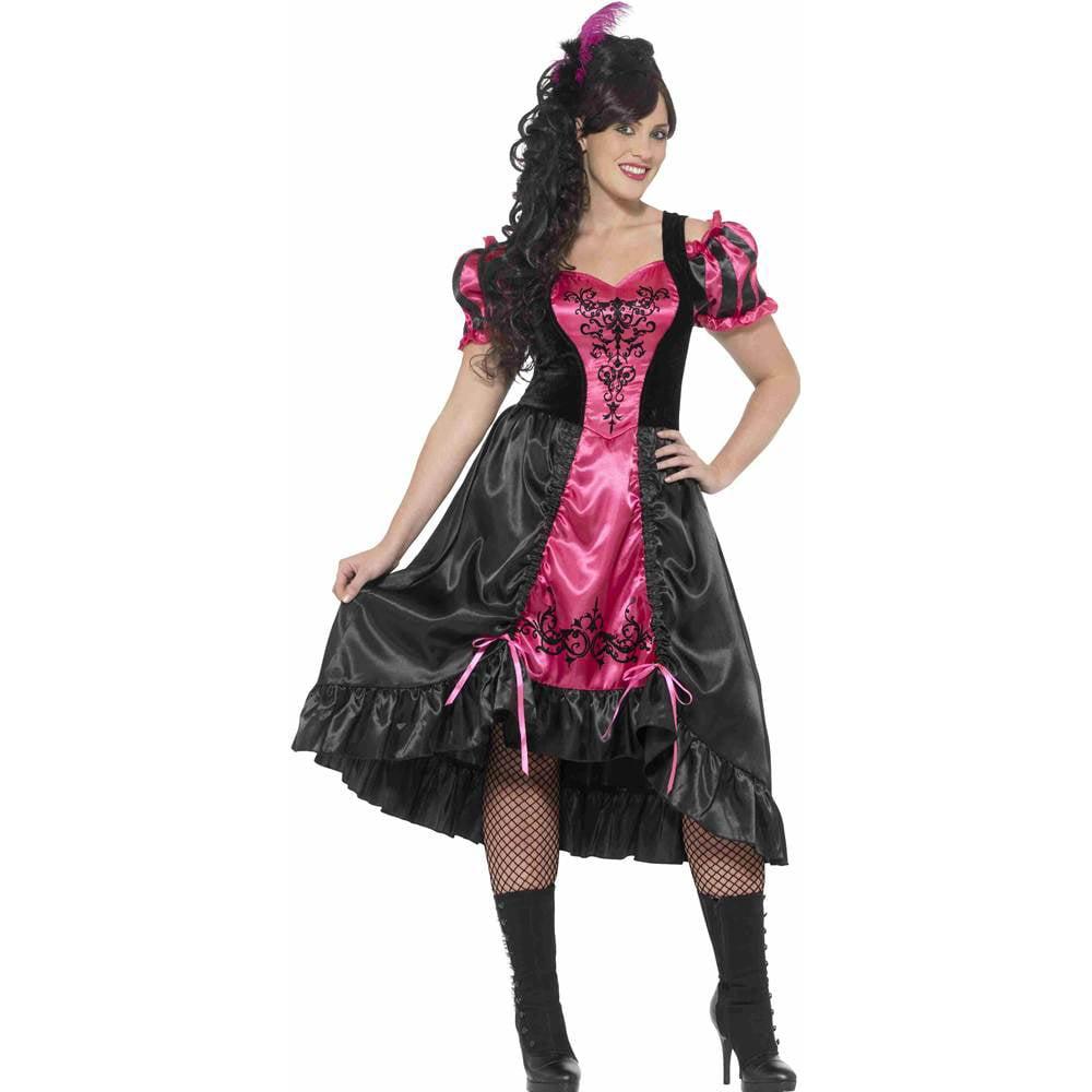Curves Sassy Saloon Girl Plus Size Costume