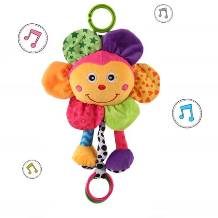 Giraffe Baby Toy - Soft Sunflower Rattle Baby Musical Toys Suitable for Newborn Giraffe Crib Toys Early Educational Toys