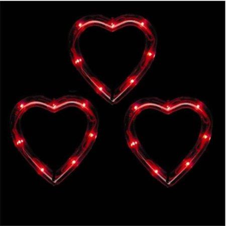 Sienna 661-348G6511 Lighted Valentines Day Decorations - Red Heart Light Set - Outdoor Valentine Decorations