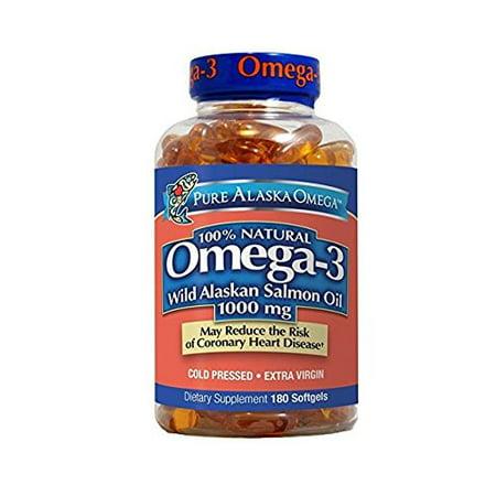 Pure Alaska Omega-3 Wild Alaskan Salmon Oil Softgels, 1000 Mg, 180 Ct
